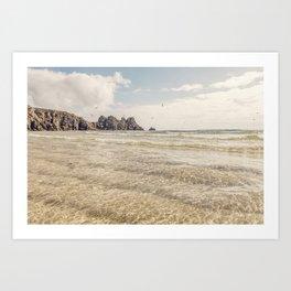 Perfect days, Pedn Vounder Beach, Cornwall. Art Print