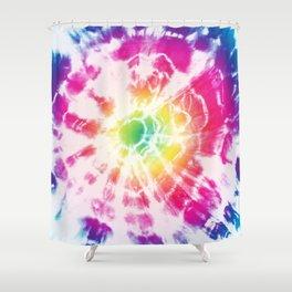 Tie-Dye Sunburst Rainbow Shower Curtain