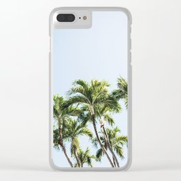Palm Trees V3 Clear iPhone Case