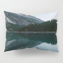 Sunset at the Mountain Lake – Landscape Photography Pillow Sham