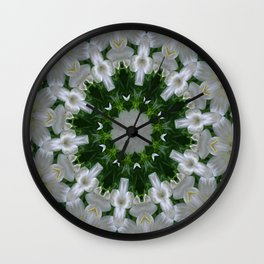 white dream circle Wall Clock
