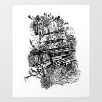 poetry Art Prints featuring Poetry by Hopler Art