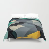 dc comics Duvet Covers featuring DC Comics Superhero by Eric Dufresne