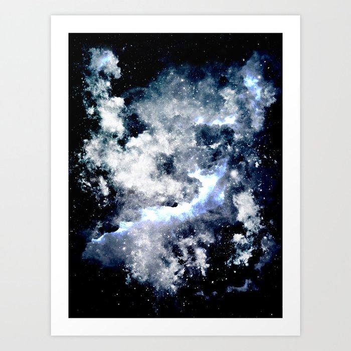 Frozen Galaxy Art Print