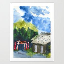 Shinto shrine yard Art Print