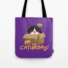 Caturday Series: Midnight Tote Bag