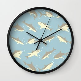 Many, Many Sharks Wall Clock