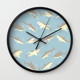Many, Many Sharks Wall Clock