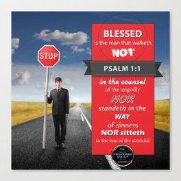 Psalm 1:1 Canvas Print