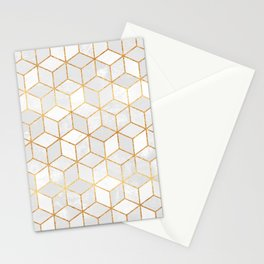 White Cubes Stationery Cards