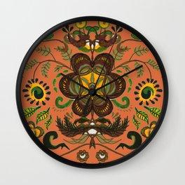 Shenkura Folk Art Pattern Wall Clock