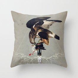 Meme les oiseaux meurent /3 Throw Pillow