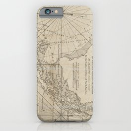Vintage Map of The Florida Keys (1771) iPhone Case