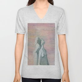 one flew over the statue Unisex V-Neck