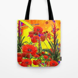 MODERN TROPICAL FLOWERS GARDEN DESIGN IN YELLOW-ORANGE COLORS Tote Bag