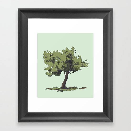 Life is Beautiful Olive Tree Framed Art Print