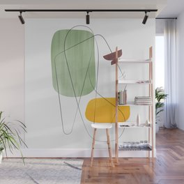 Abstraction with gray lines 2 Wall Mural