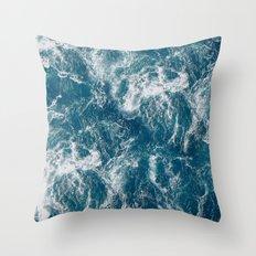 Sea water Throw Pillow