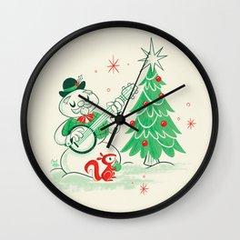 Vintage Snowman Wall Clock