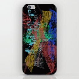 Black abstract designe iPhone Skin