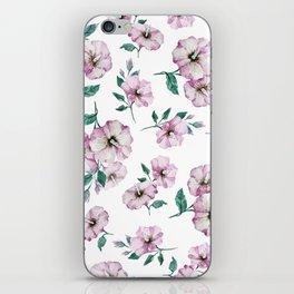 PINK FLOWERS WATERCOLOR iPhone Skin