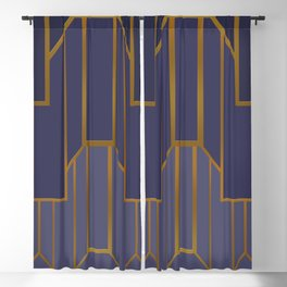 ART DECO G3 (abstract artdeco geometric) Blackout Curtain
