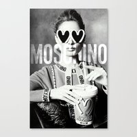 moschino Canvas Prints featuring Moschino Glasses by Claudio Velázquez