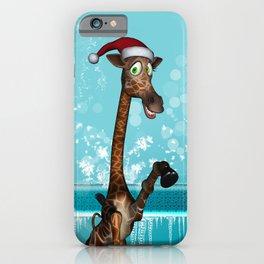 Funny, cute giraffe iPhone Case