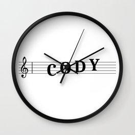 Name Cody Wall Clock