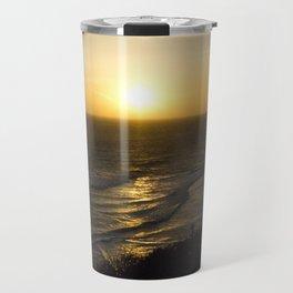 Cliff Top Sunset Travel Mug