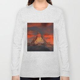 Mountain Matterhorn Switzerland Long Sleeve T-shirt