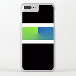 Team Colors 3...blue,green Clear iPhone Case