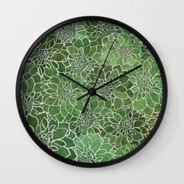 Dahlia Flower Pattern 4 Wall Clock