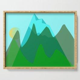 Alpine landscape Serving Tray