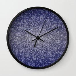 Mandala blue lace Wall Clock