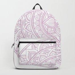 Hand Drawn Bali Mandala - Dusty Pink Lilac Backpack
