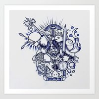 doodle Art Prints featuring Doodle by Puddingshades