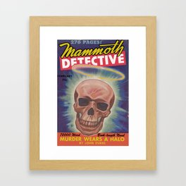 Mammoth Detective - February 1944 Framed Art Print