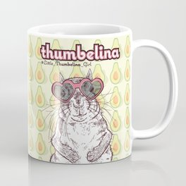 Little Thumbelina Girl: heart sunnies Coffee Mug