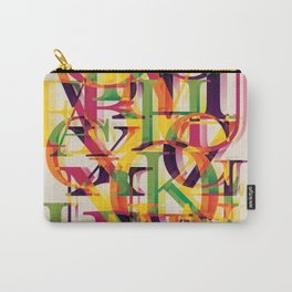 Baskerville font poster Carry-All Pouch