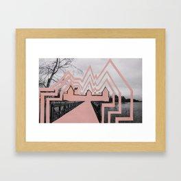 Trakai Castel- de-characterization Framed Art Print