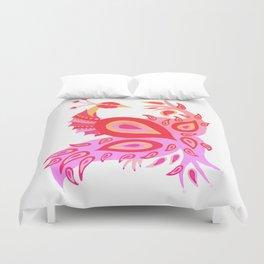 Peacock – Pink & Peach Ombré Palette Duvet Cover