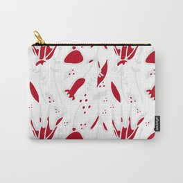 winter floral white Carry-All Pouch