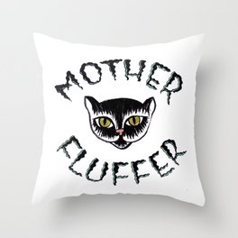 Mother Fluffer Throw Pillow