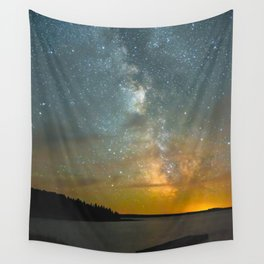 Milky Way Galaxy in Manitoba Wall Tapestry
