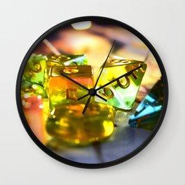 Pastel Dice Wall Clock