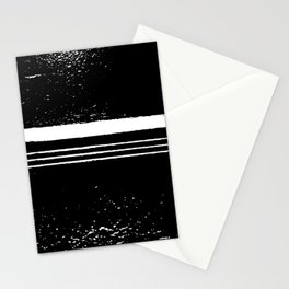 abstract black and white Stationery Cards