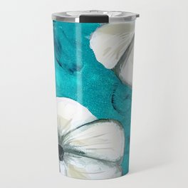 Flowers in Oil Travel Mug