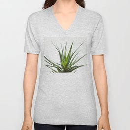 Fleshy in this green flower-plants Unisex V-Neck