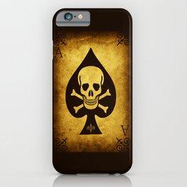 Death Card Ace Of Spades iPhone Case